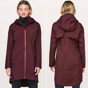 Lululemon Rain Rules Jacket Cassis Maroon Size 10